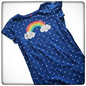 Carter's Girls Polka-dot Rainbow Night Gown-6/7